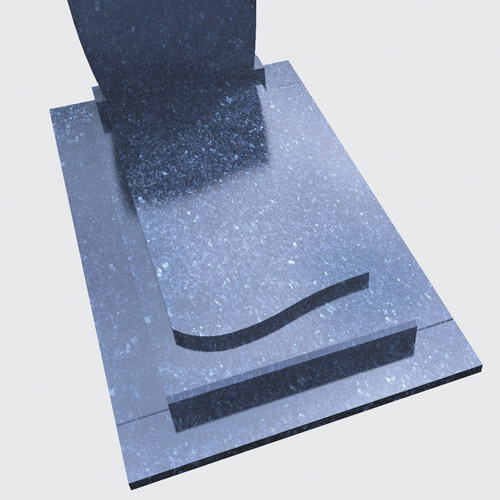 Pierre tombale Lila en granit bleu