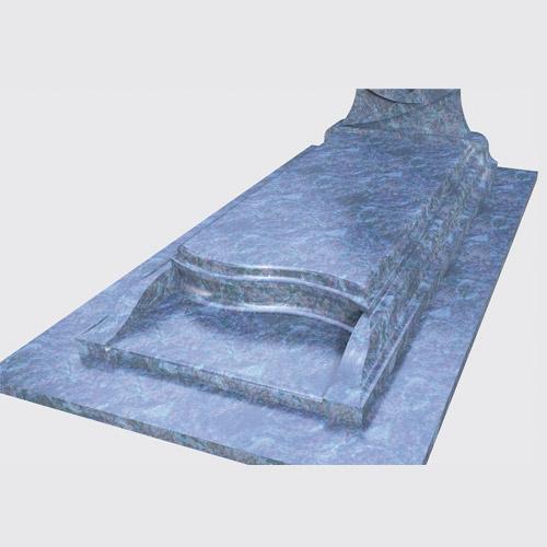 Pierre tombale Lova en marbre bleu