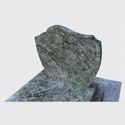Pierre tombale Marina avec stèle structurée