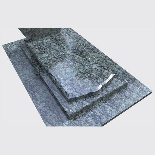 Pierre tombale Marina en granit vert olive