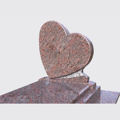 Pierre tombale Ocora avec stèle en coeur