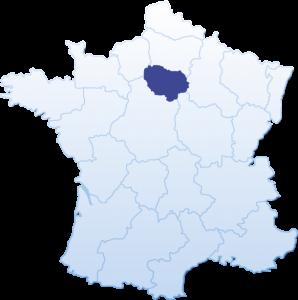Carte de France Pierre Tombale